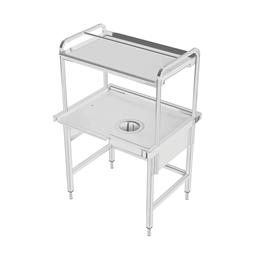 Manipulační stoly k myčkám Příjmový/třídící stůl k průběžným a tunelovým košovým myčkám, P>L, 1000x800mm <br> 865334